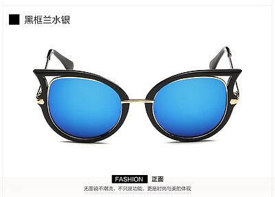 Womens Retro Cat Eye Mirror Sunglasses Designer Driving Sports Glasses Eyewear