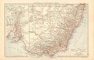 image is loading 1893 antique map australia victoria and new south