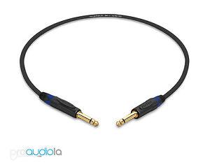 "Gotham GAC-1 Ultra Pro Instrument Cable Neutrik Gold 1//4 TS/""Blue Boots 1.5 Ft"