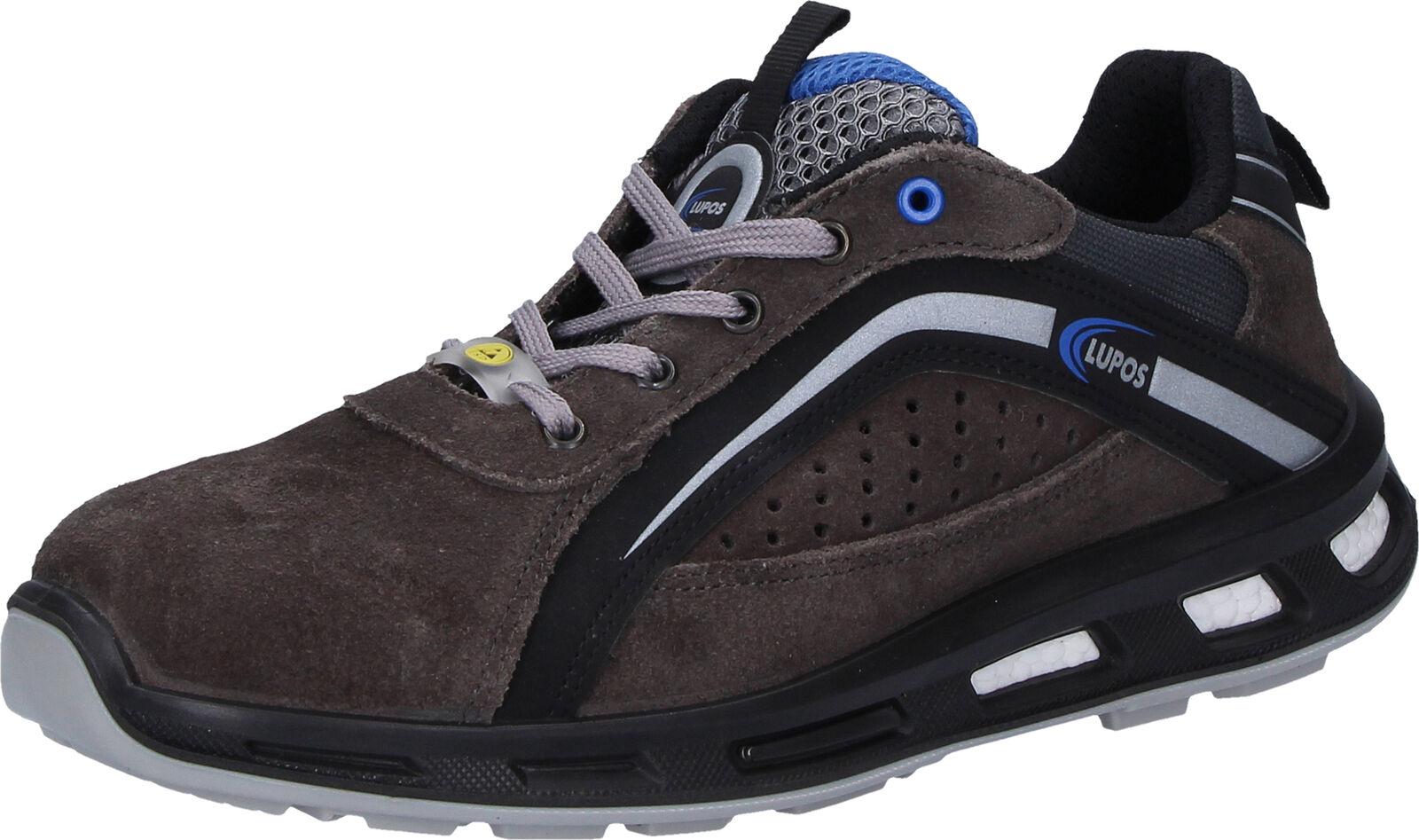 LUPOS Park gris en345 s1p ESD zapato bajo seguridad zapatos talla 45