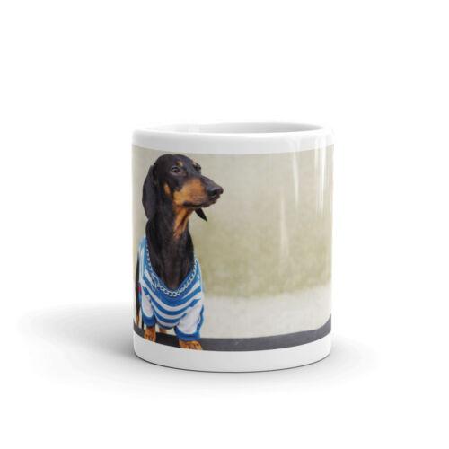 Mug /& Coaster Set Cute Skateboarding Dachshund Sausage Dog Animal Gift #13274