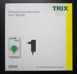 TRIX-66508-Fahrregler-mit-Schaltnetzteil-Fahrgeraet-Regler-H0-Modelleisenbahn-OVP