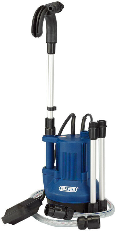 Draper 40L/min 350W 230V Submersible Water Butt Pump with Float Switch 36327