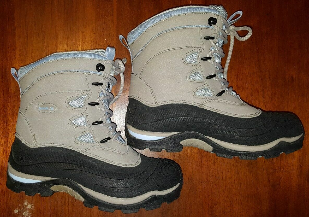 Kamik Okemo Leather Waterproof Lace Up Winter Snow Ultra bottes, Taille 7M