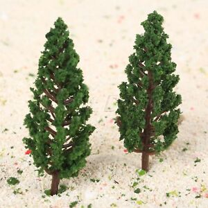 50Pcs-Model-Train-Trees-Pine-Railroad-Scenery-Layout-HO-OO-Scale-78mm-Plastic