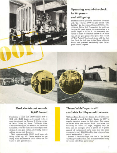 50 Years of Caterpillar Old Big Yellow Machines Booklet