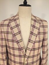 Brooks Brothers Mens Cotton Madras Sport Coat Blazer Jacket Trad Prep Sz 38