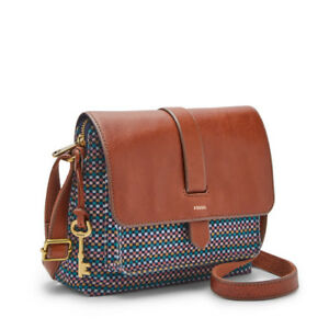 6c95853b739a Image is loading Fossil-Women-039-s-Kinley-Small-Crossbody-TEAL-