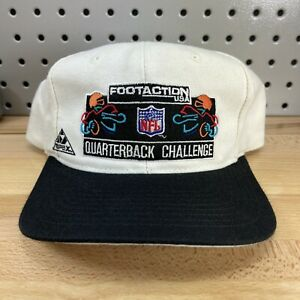 RARE Vintage 90's Footaction USA NFL Quarterback Challenge White Hat Apex Cap