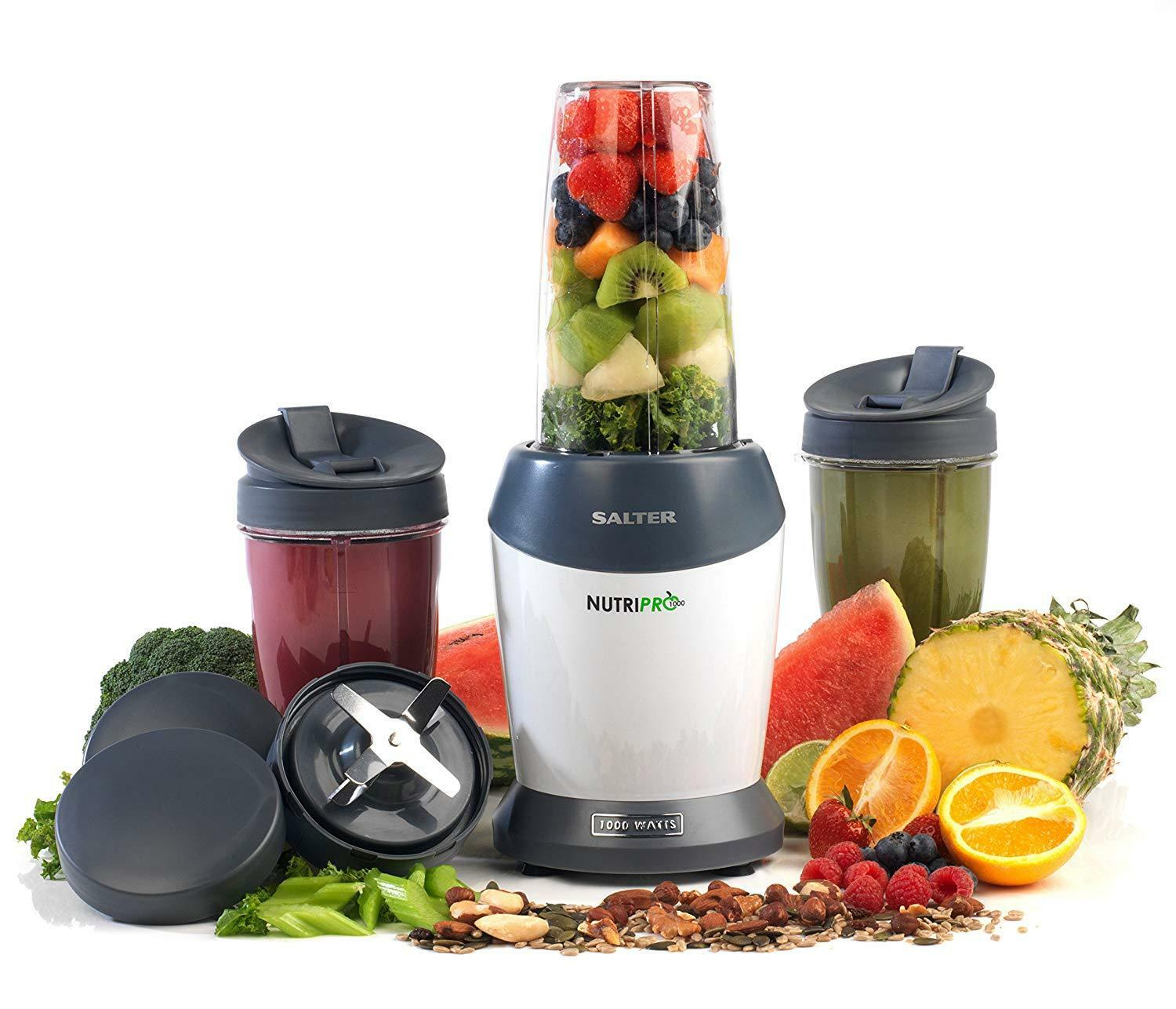 Salter Nutri Pro Super Charged Blender Nutrient Extracteur unique Blanc Nouveau