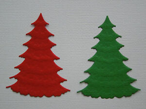 Christmas-Tree-Paper-Die-Cuts-x-6-Sets-Scrapbooking-Card-Topper-Embellishment