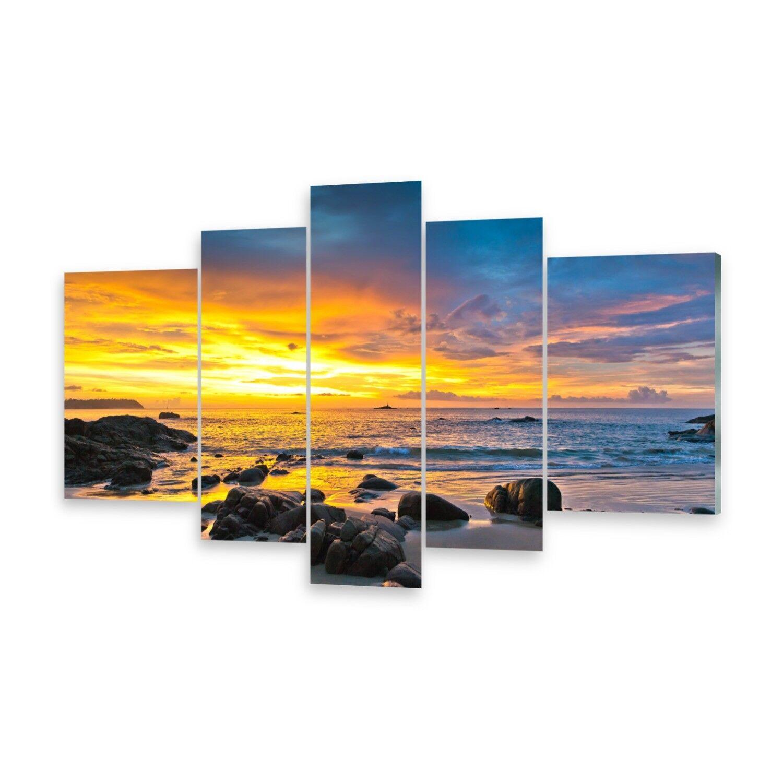 Mehrteilige Bilder Acrylglasbilder Wandbild Sonnenuntergang Bunt