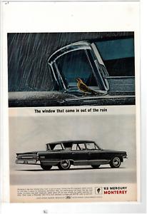Details about 1963 MERCURY MONTEREY 4-DOOR SEDAN INWARD SLANTED REAR WINDOW  AD PRINT E947
