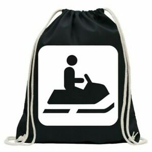 Snowmobile-Caterpillar-Pictogram-Gym-Bag-Fun-Backpack-Sports-Pouch-Gymsack-Pull