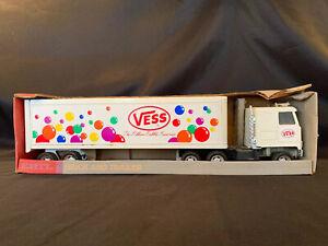 Rare-Vintage-Ertl-VESS-Soda-Semi-Truck-And-Trailer-Pressed-Steel-Toy-In-Box
