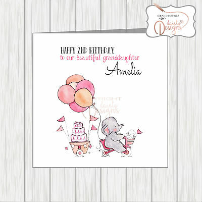Personalised Greatest Showman Birthday Card Daughter Sister Granddaughter Niece