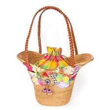 Mackenzie Childs Rattan Basket Purse Bag Courtly Check NLA  Retails $375 Wicker
