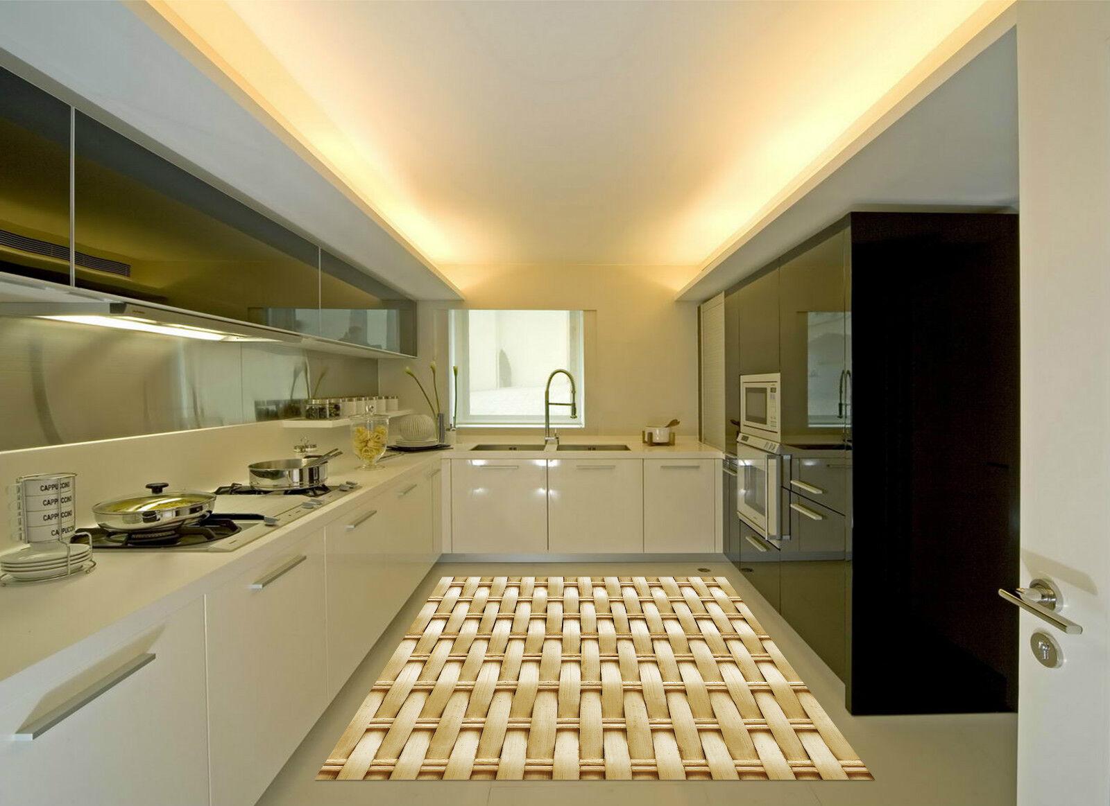 3D Bamboo Strips Kitchen Mat Floor Murals Wall Print Wall Deco AJ WALLPAPER CA