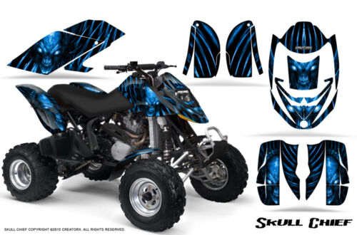 CAN-AM DS650 DS650X CREATORX GRAPHICS KIT DECALS SKULL CHIEF BL