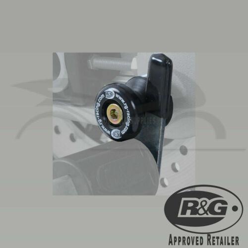 Suzuki GSXR750 2002 K2 R/&G Racing Black M8 Cotton Reels Paddock Stand Bobbins