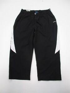 REEBOK-Athletic-Pants-Women-039-s-Size-S-Lightweight-Black-White-Track-Capri-W7226