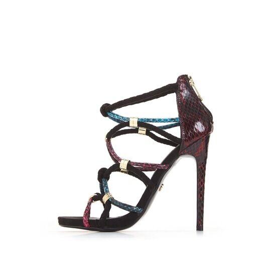 KG STILETTO SANDALS ..   / BLACK MULTI / Schuhe..UK 6  EU 39 . KURT GEIGER