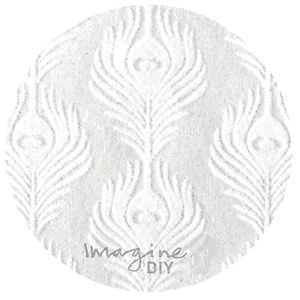2x A4 Phoenix Ivoire floqué papier décoratif