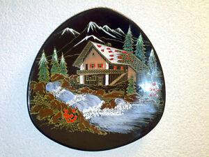 Wandteller-Wall-Plate-LONGWY-Haute-Montagne-Grand-Feu-France-Dia-27-3-cm