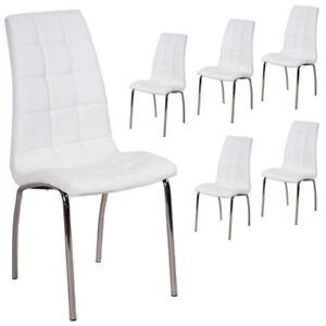 Stuhl Esszimmerstuhl Stühle Kunstleder Weiss Küchenstuhl
