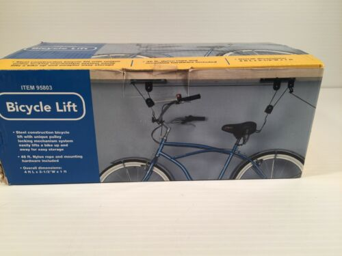 Bicycle Lift Item 95803 Steel Construction Bike Lift 46ft Nylon 4L x 3 12 w x 1