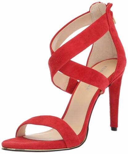 Size 9.5 Kenneth Cole New York Womens Brooke Cross Strap Peep Toe Casual Fuego