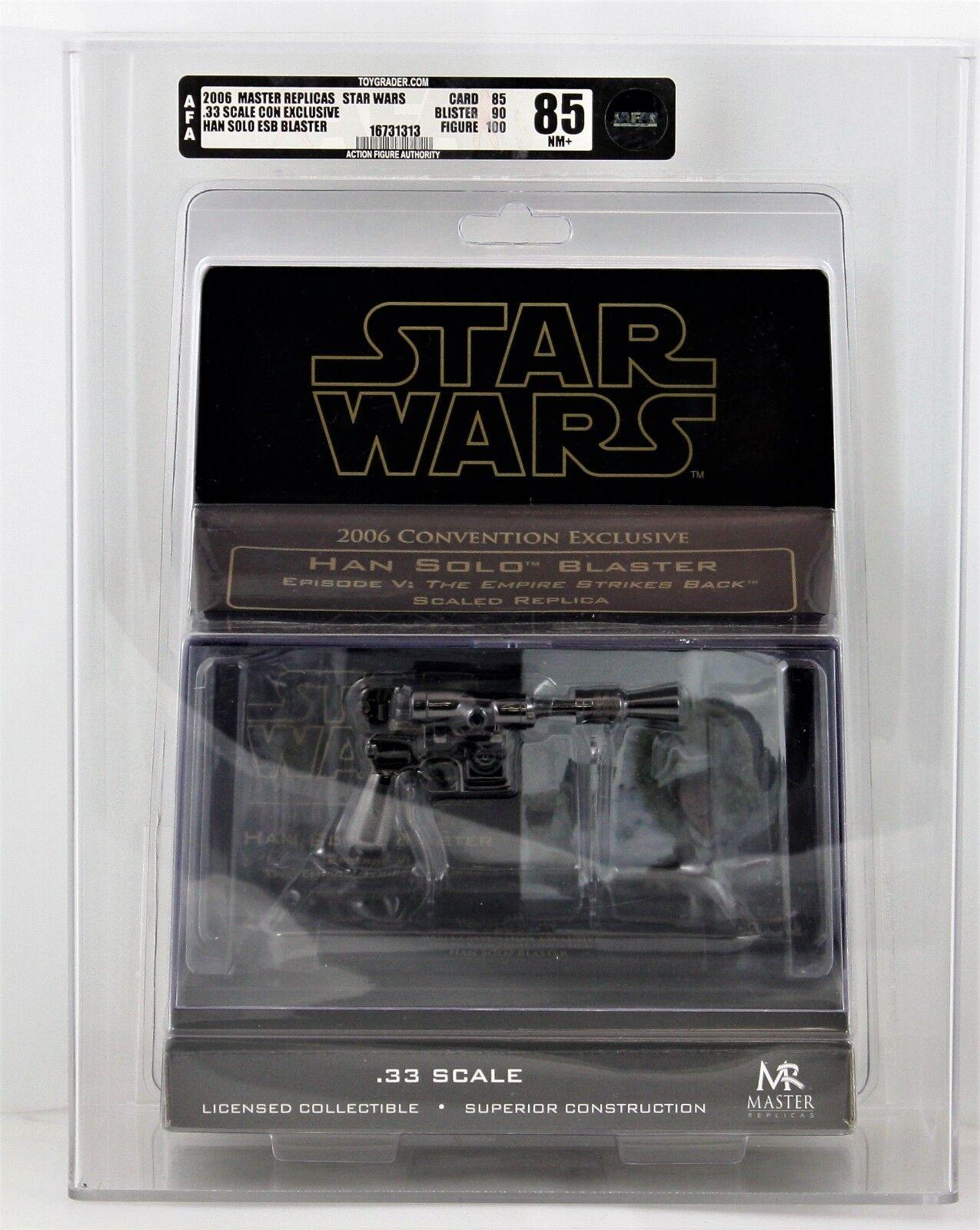 AFA 8.5 Star Wars Han Solo EP5 edition blaster mini scale 2006 SDCC