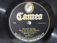 78rpm Cameo 527 MONROE SILVER: NO HOT WATER WAY UP IN THE BRONX Jewish Comic