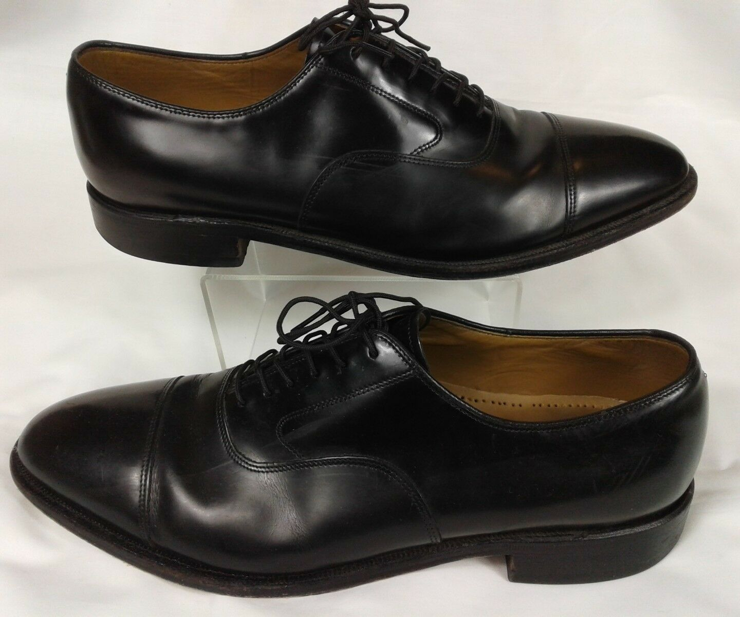 Johnston & Murphy Black 10 Cap Toe Oxford Size 10 Black D 71c29f