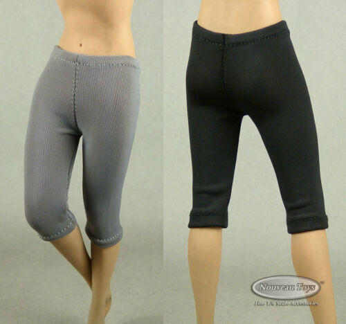 NT Female Black /& Gray Exercise Yoga Tights Pants Combo 1//6 Phicen TB League