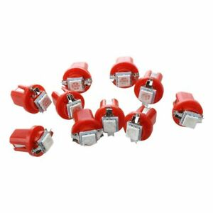 10x-AMPOULE-LED-SMD-COMPTEUR-TABLEAU-DE-BORD-B8-5D-T5-avec-support-ROUGE-TU-Y9Q6