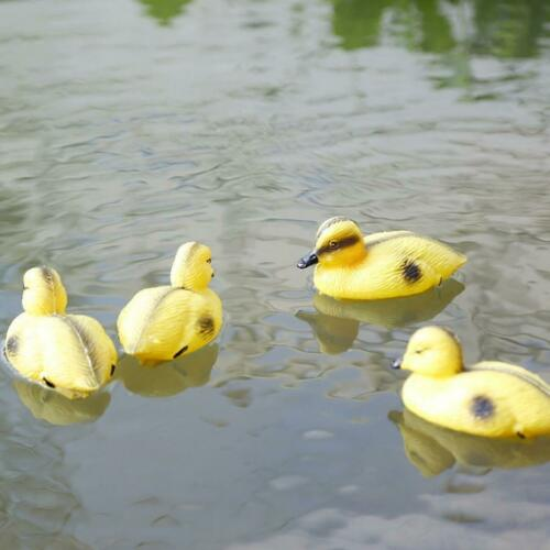 6X Floating Duck Ducklings Fish Pond Ornament Plastic Decoy Mallard Lifesize