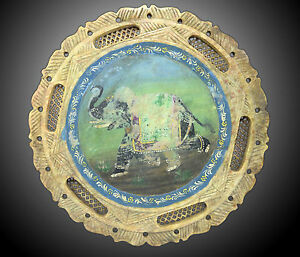 Vintage Marble Plate Beautiful Painting Floral Design & Jali Work G38-41 Au Price Remains Stable