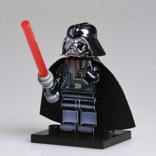 STAR WARS CHROME CUSTOM LEGO MINIFIGURES UK YODA VADER JEDI MARVEL
