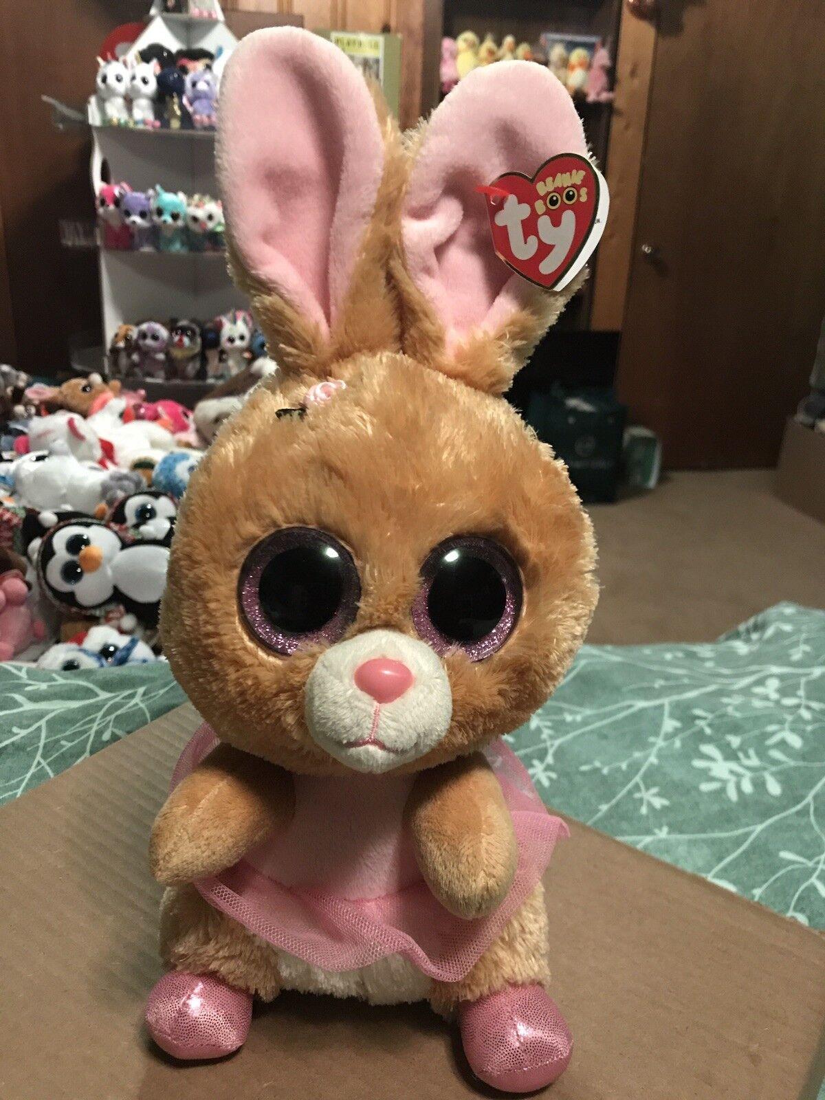 Ty trampeltier tan   Rosa rabbit beanie - kumpel  ruhestand ballerina  selten & vhtf
