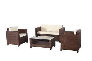 Evre-Rome-4PCS-Weatherproof-Outdoor-Furniture-Set-Durable-Rattan-Brown