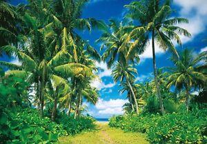 Foto-Mural-decorativo-Tropical-ISLA-PARED-366x254cm-Verde-Azul-Selva-PALMAS