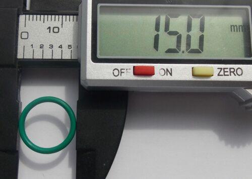 15mm OD 1.5mm CS Metric O Rings Seal FKM Sealing O-rings Washers
