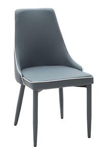 set di 4 sedie poltroncina in ecopelle con bordino bianco 3 varianti ...