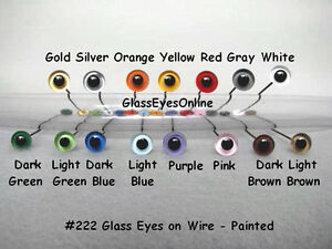 6-PAIR-9mm-or-10mm-Painted-Glass-Eyes-on-wire-Doll-Teddy-bear-Decoy-Lures-222