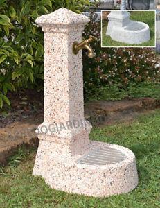 Fontana giardino da esterno in pietra e spezzato di marmo for Fontanelle da esterno
