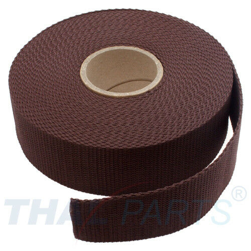 1,6mm Stark-marrón polipropileno bolsillos cinturón 10m Cinturón Banda ancha 40mm aprox