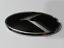 Black-amp-Chrome-K-Emblem-Badge-2pcs-Hood-Trunk-for-KIA-new-Forte-YD-K3-2014-2015