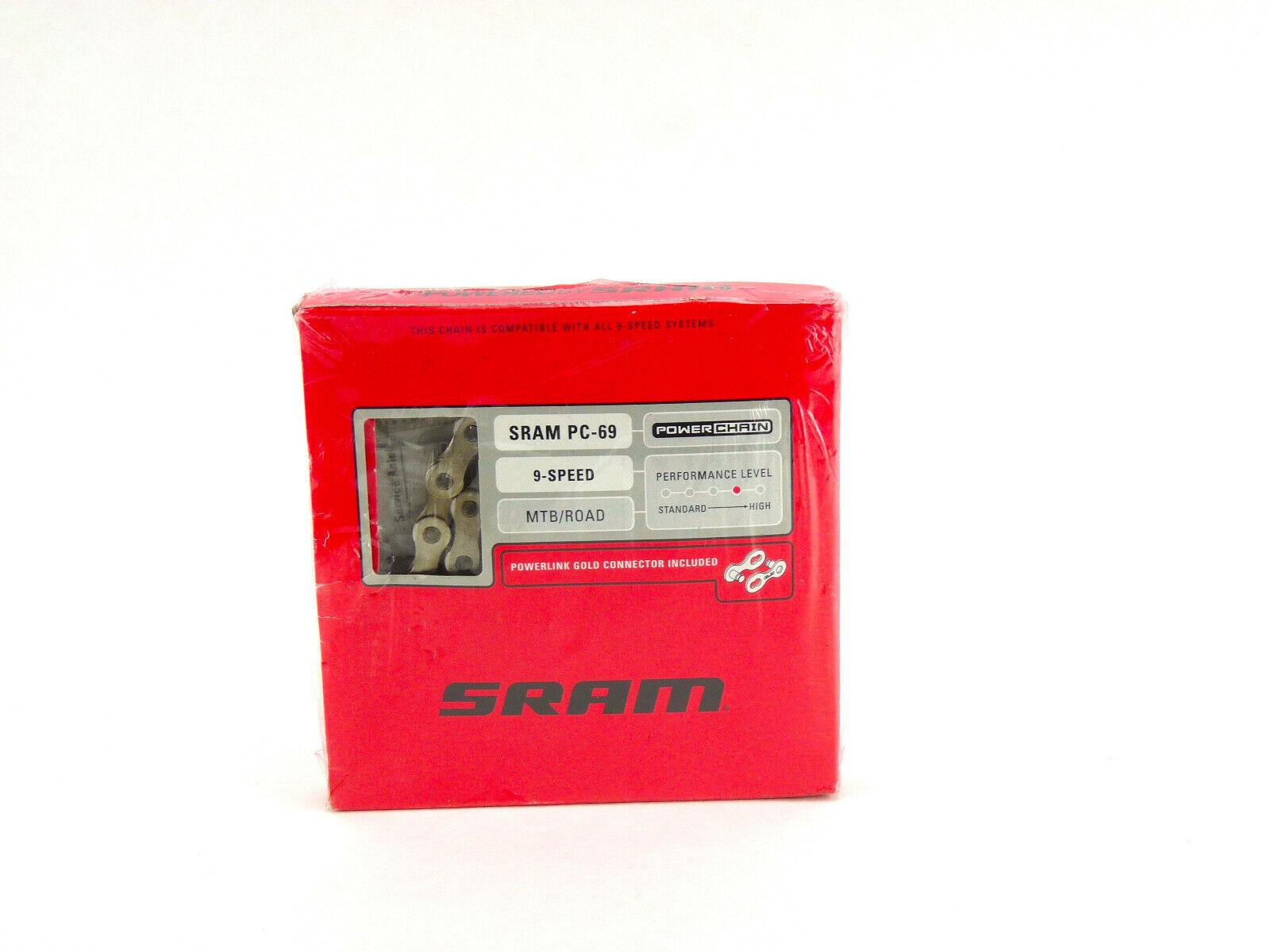 SRAM PC-951 PC-971 PC-991 9Speed Bike Chain 114 Links Gray Chains fits x5 x7
