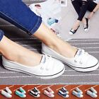 Fashion Womens Lace Up Canvas Casual Shoes Ladies Flats Spring Slip On Loafers